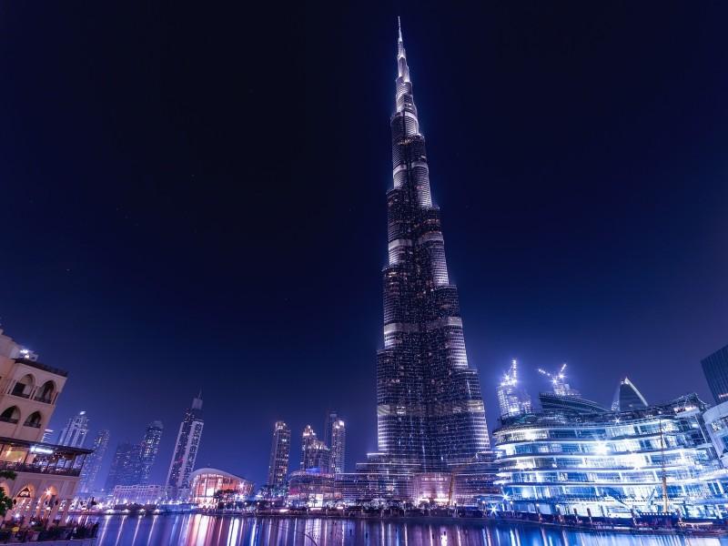 Burj Khalida bei Nacht