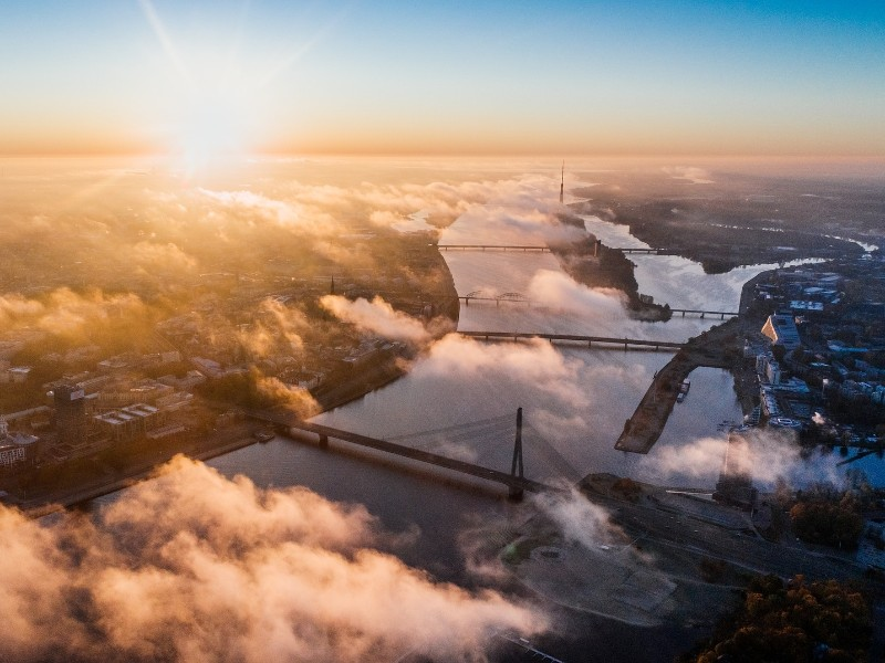 Luftbild von Riga