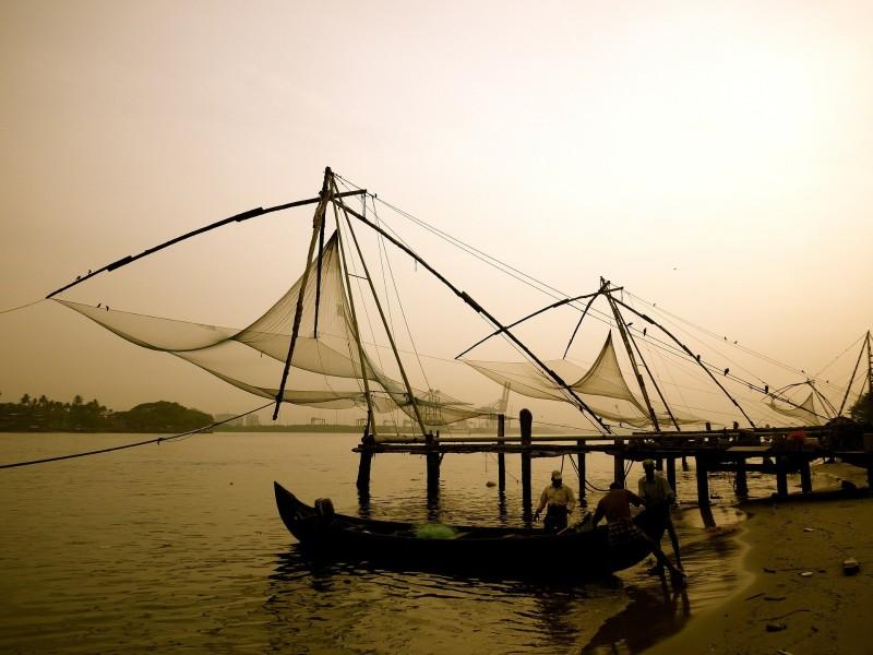 Chinesische Fischernetze in Cochin