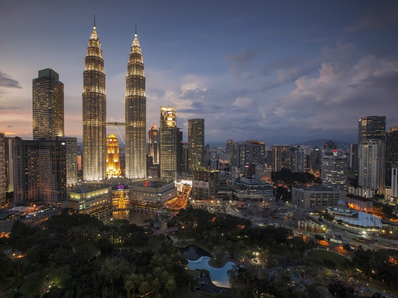 Kuala Lumpur bei Nacht