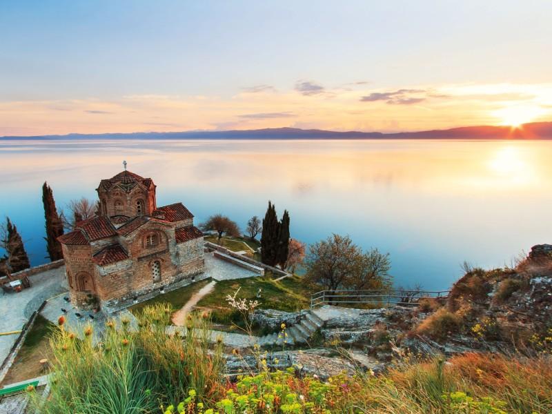 Sveti Jovan Kaneo Kirche am Ohridsee