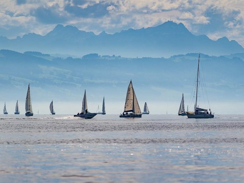 Segenboote am Bodensee