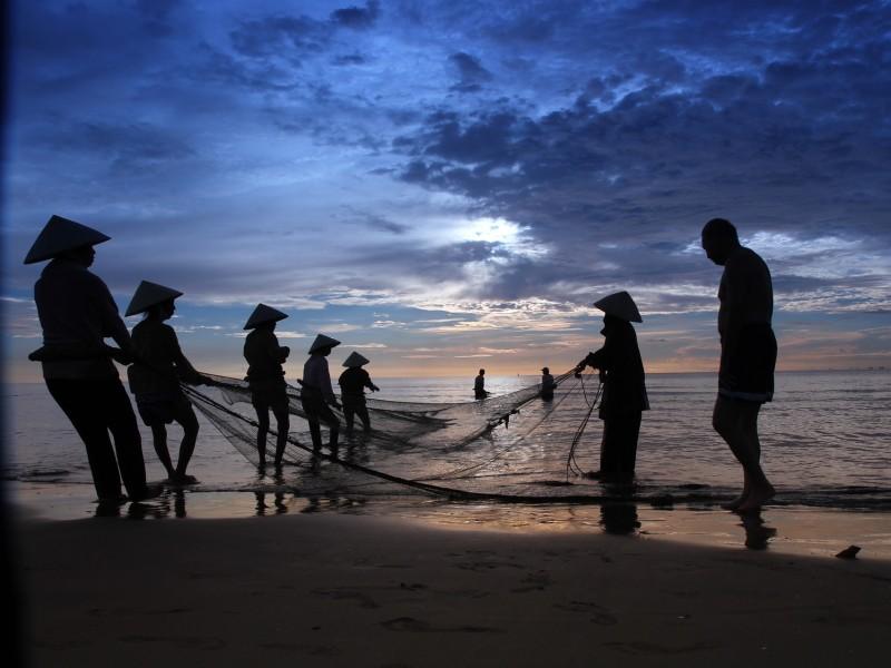 Fischer am Strand Phan Thiet