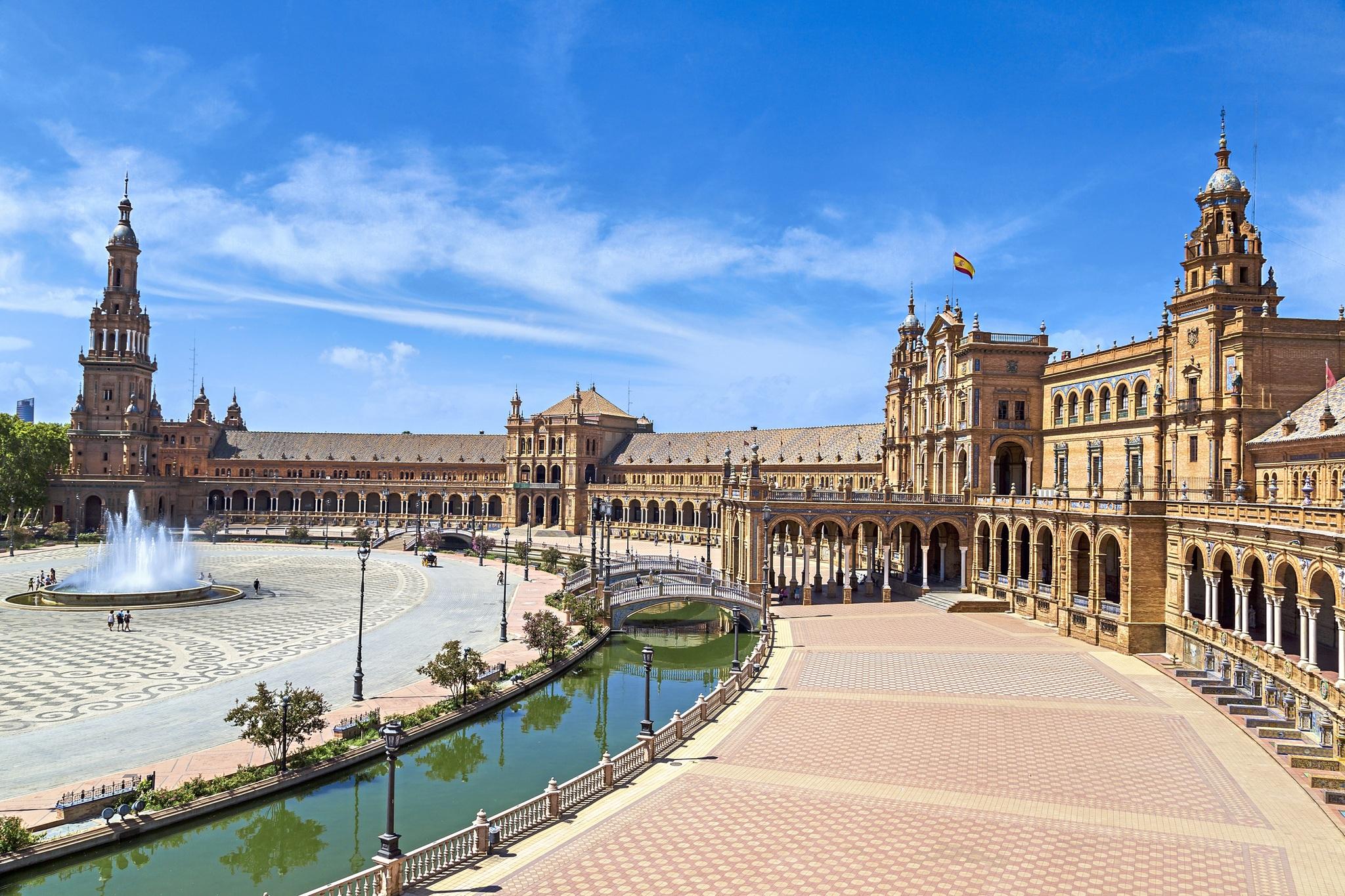 Spanien Andalusien Sevilla Spanischer Platz Plaza de Europa