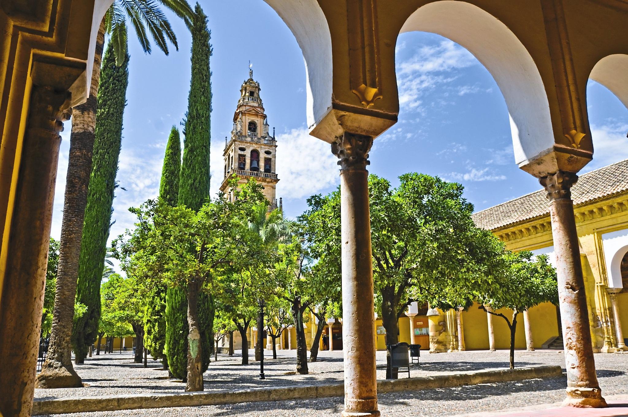 Europa Spanien Cordoba Orangenhof Mezquita