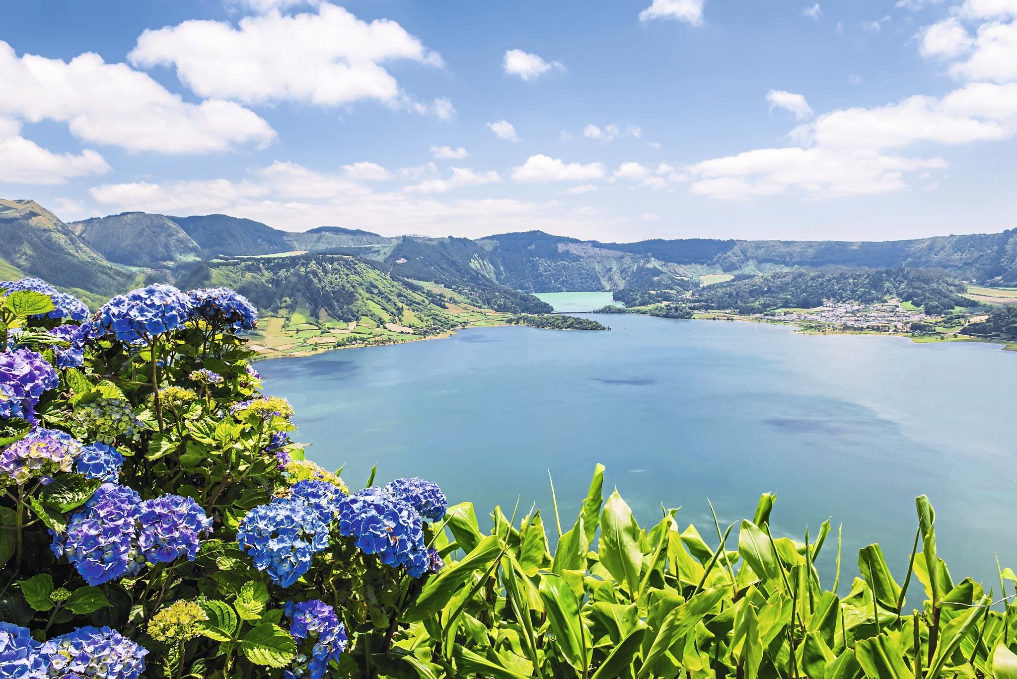 Europa Portugal Azoren Sete Cidades See