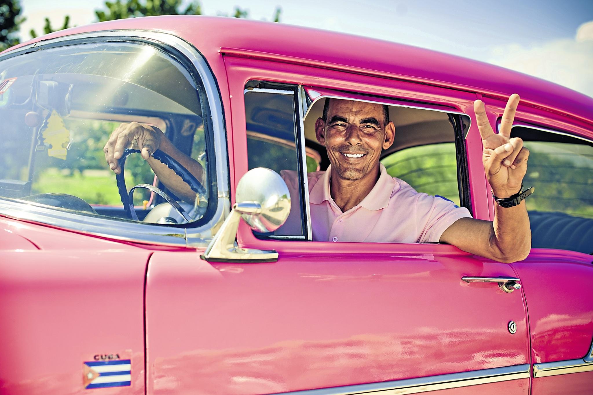 Kubanischer Taxifahrer