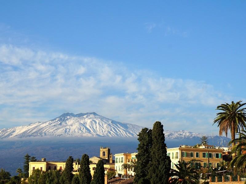 Italien-Sizilien-Ätna-Panorama