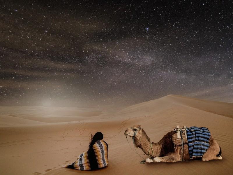Sternenhimmel Wüste Oman