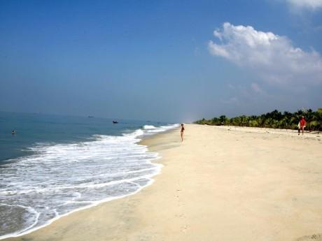 Erholung am Strand von Marari in Kerala