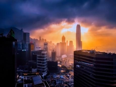 Hong Kong am Morgen