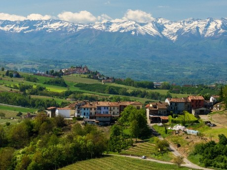 Italien-Piemont-Landschaft