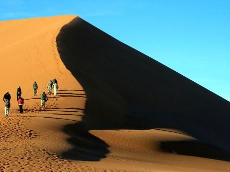 Wanderung auf den Dünen Sossusvlei
