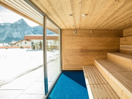 Sauna mit Aussicht, Hotel Edelweiss