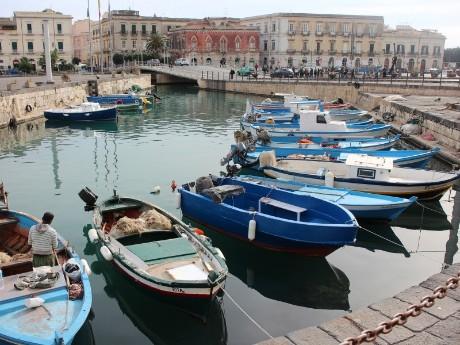 Italien-Sizilien-Syrakus-Hafen