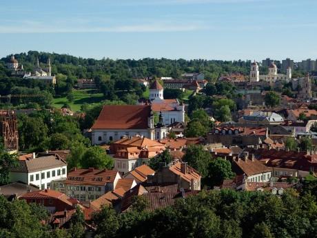 Rote Dächer von Vilnius