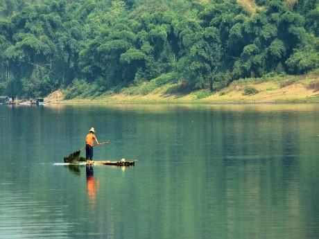 Fischer auf dem Li Fluss in Yangshuo