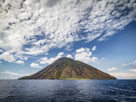 Vulkan auf Stromboli, Liparische Inseln
