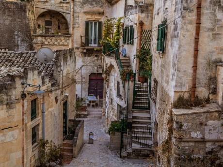 Italien-Matera-Gasse