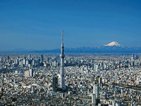 Tokyo Skytree- Luftaufnahme