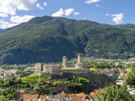 Aussicht auf Burg, Bellinzona