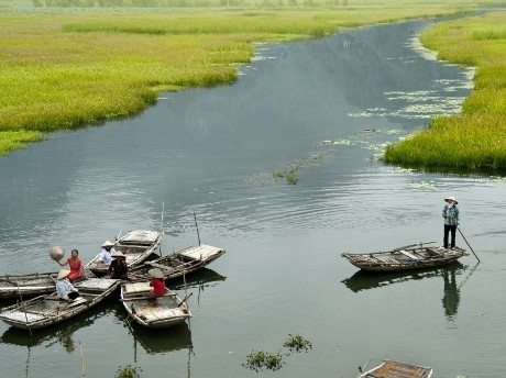 Fischerboote in Ninh Binh