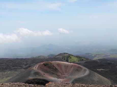 Italien-Sizilien-Ätna-Krater