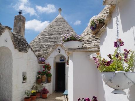 Italien-Apulien-Alberobello_Hauseingang