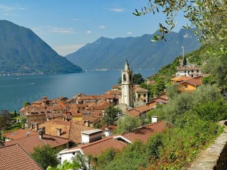 italien-lombardei-lake-como-histor. ort