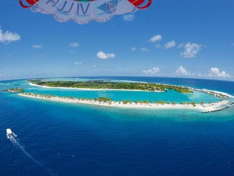 Strandverlängerung auf den Malediven