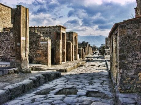 Italien-Pompeji-Gasse