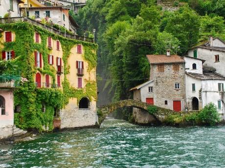 italien-lombardei-lake-como-antike-häuse