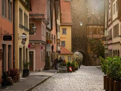 deutschland-rothenburg-Altstadt-Gasse