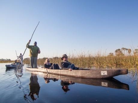 Mokoro Fahrt im Okavango