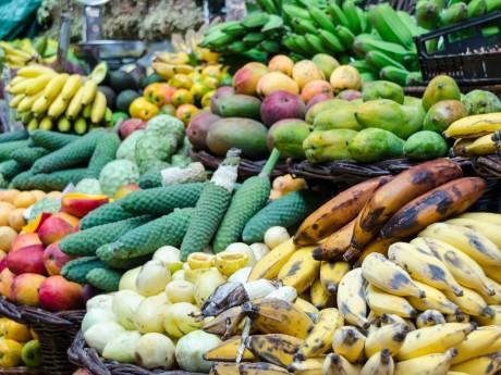 Exotische Früchte auf dem Markt, Funchal