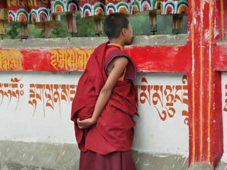 Junger Mönch in Rumtek