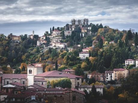 Aussicht auf Altstadt, Bergamo
