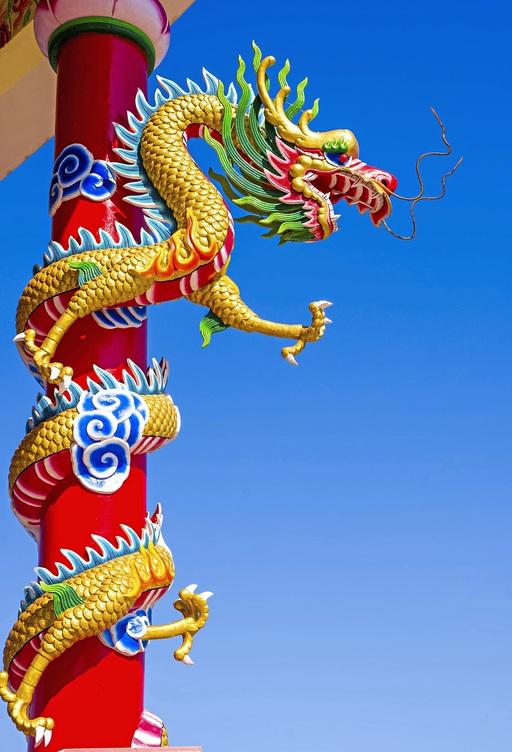 Statue Chinesischer Drache