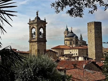 Skyline der Altstadt, Bergamo
