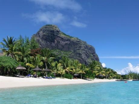 Strandverlängerung auf Mauritius